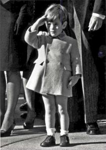JFK Jr.'s (also know as John John) famous salute as his father's casket passed by (UPI.com)
