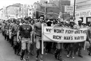 A Vietnam War protest (Source: Haverford Blog)