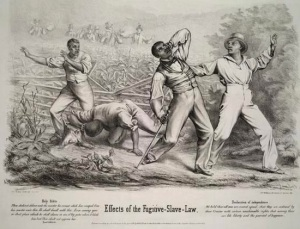 "Painting titled ""Effects of the Fugitive-Slave Law"" (Source: Library of Congress)"