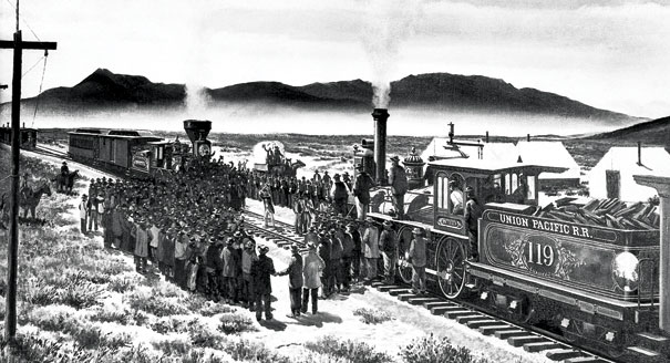 an introduction to the history of the transcontinental railroad in the united states The beginnings of american railroads and mapping  followed first by steamships on the navigable rivers and by the construction of canals and then in the 1830s by the introduction of railroads for steam-powered trains  planning and construction of railroads in the united states progressed rapidly and haphazardly, without direction or.