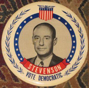 Stevenson campaign button (Source: AntiquesNavigator.com)