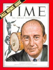 TIME Magazine from October 1952 cover featuring Adlai Stevenson II (Source: TakeMeBackTo.com)