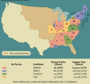 1824 election results (Source: WW Norton & Company)