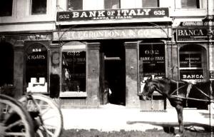 The old Bank of Italy in San Francisco (Source: ItaloAmericano.com)