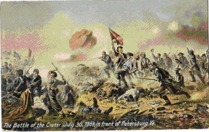 Painting depicting the Battle of the Crater (Source: The Petersburg Express)