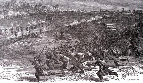 Battle at Bristoe Station (Source: Bristoe.org)