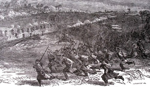 Battle at Bristoe Station (Source: Bristoe.org)