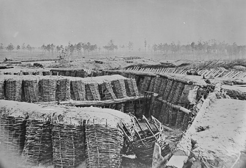 The trenches at Petersburg Battlefield (Source: That National Archives and Records Administration)