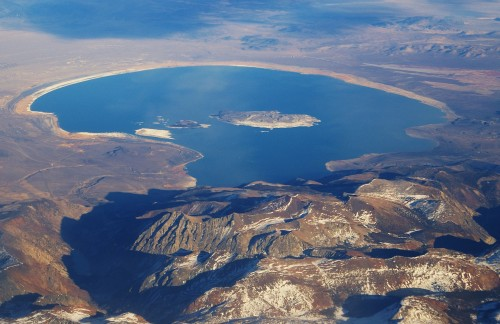 Arial view of Mono Lake (Source: Wikipedia.org)