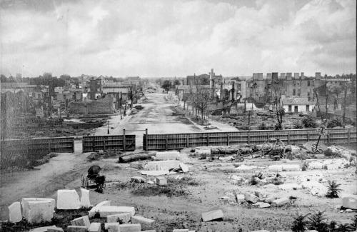 The burning of Columbia, S.C. February 17, 1865 (Source: Wikipedia)