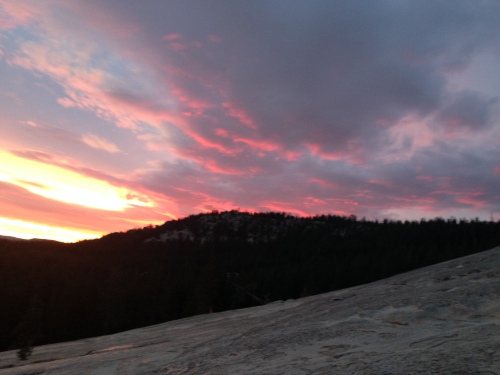 Sunset photo from Lembert Dome