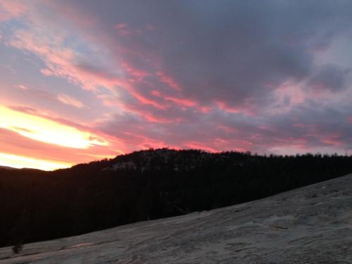 Sunset photo from Lembert Dome