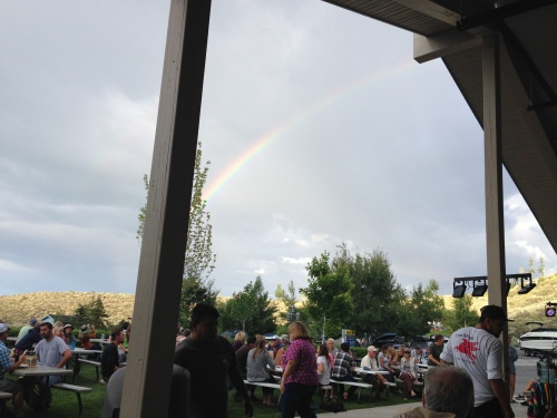 Fun times and a rainbow at the Mobil